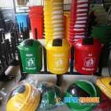 Tong sampah fiber bulat vol 50 liter - Foto 2