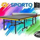 Tenis meja pingpong merk SPORTO black edition (warna hitam)