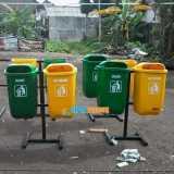 Tempat sampah fiber pilah 2 organik - Foto 2