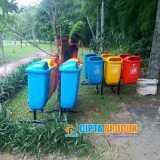Tempat sampah fiberglass volume 50 liter - Foto 3