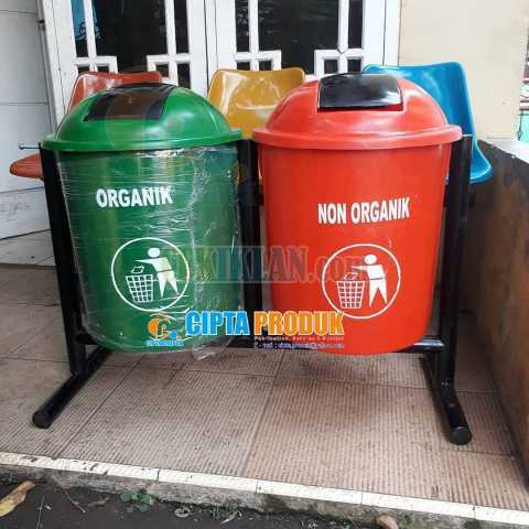 Tong sampah fiber outdoor