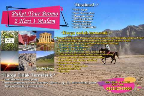 Paket Tour Bromo Batu Malang 2Day 1Night Termurah