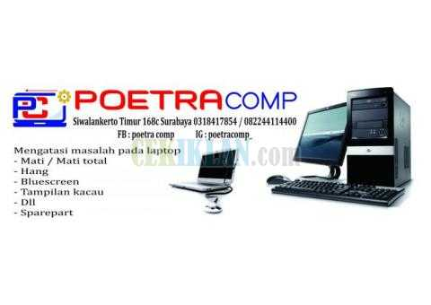 Service laptop surabaya, Service Macbook, service pc surabaya POETRA COMP