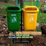 Suplier tong sampah fiber 2 in 1 - Foto 3