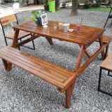 MEJA KURSI TAMAN LIPAT (Picnic / Magic Table) LEBARAN SALE!!