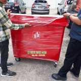Tong sampah roda 660 liter - Foto 3