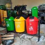 Tempat sampah fiber pilah 3 - Foto 3